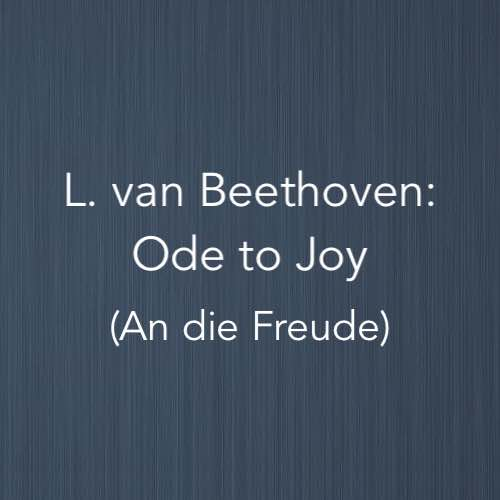 Cover image for Ode to Joy by L. van Beethoven - solo piano version