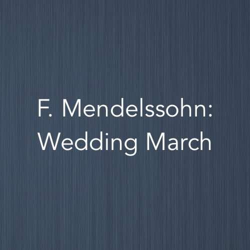 The Wedding March Song: Wedding March (F. Mendelssohn)