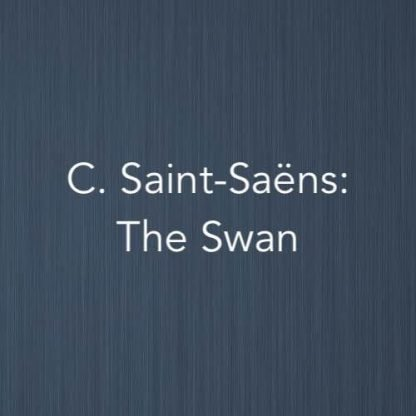 Cover image for The Swan by Camille Saint-Saëns - solo piano sheet music