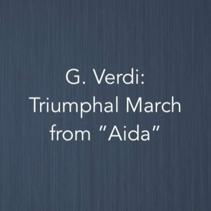 Cover image for piano version of the Triumphal March from Aida by Giuseppe Verdi