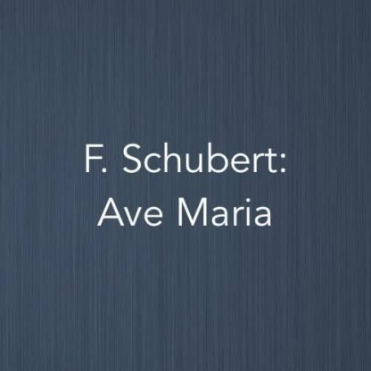 Cover image for solo piano Ave Maria sheet music by Franz Schubert