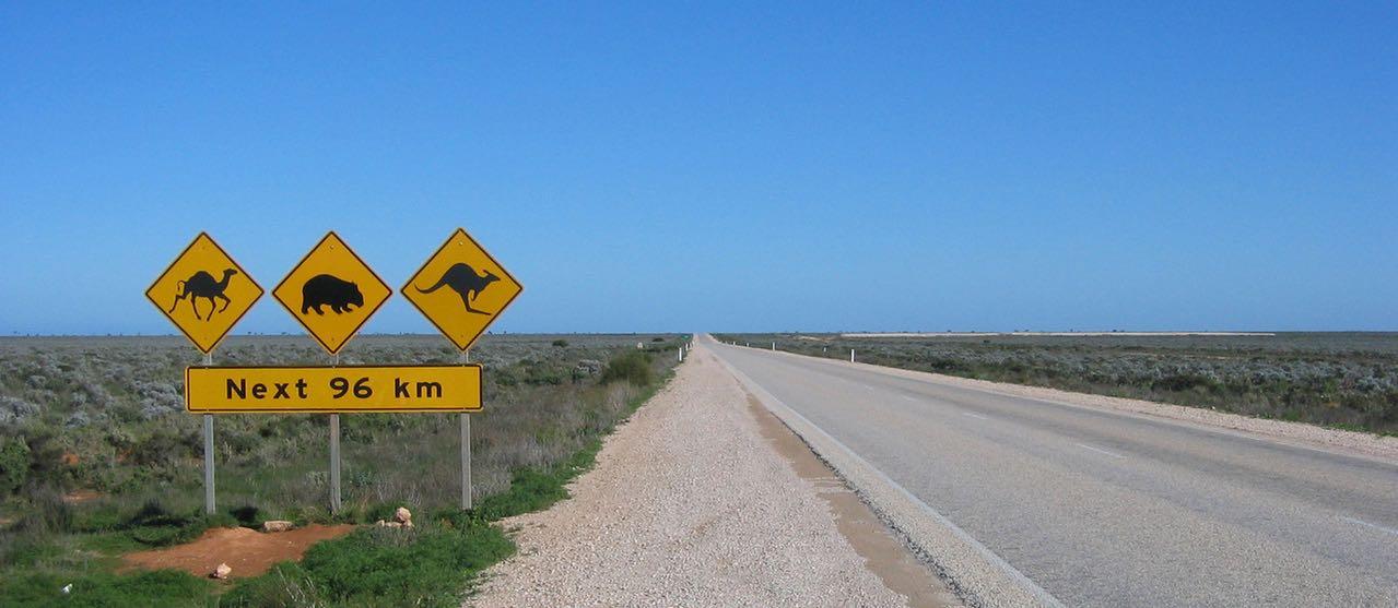 Australian desert highway scenery