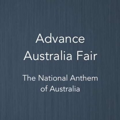 Cover image for Advance Australia Fair piano arrangement