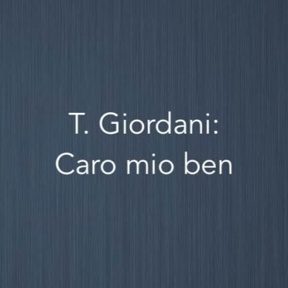 Cover image for solo piano version of Caro mio ben by Tommaso Giordani