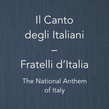 Cover image for solo piano sheet music of Fratelli d'Italia (the national anthem of Italy)