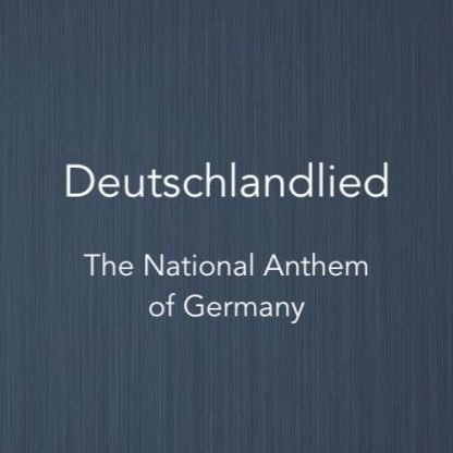 Cover image for solo piano sheet music of Deutschlandlied