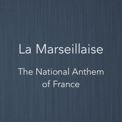 Cover image for solo piano sheet music of La Marseillaise (the national anthem of France)