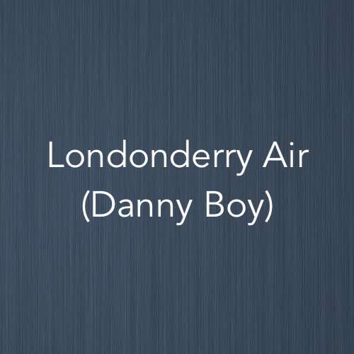 Cover image for solo piano sheet music for Londonderry Air also known as Danny Boy