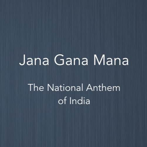 Cover image of piano score for Jana Gana Mana, the National Anthem of India