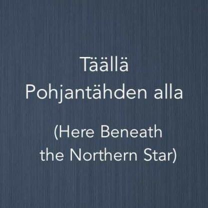 Cover image for piano arrangement of Täällä Pohjantähden alla, a Finnish folk song