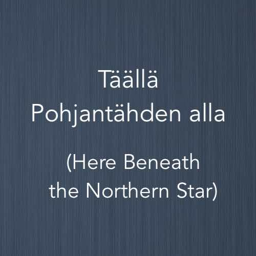 Cover image for piano arrangement of Täällä Pohjantähden alla, a Finnish folk song