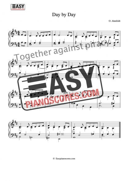 Day by Day. Sheet music for piano or organ.