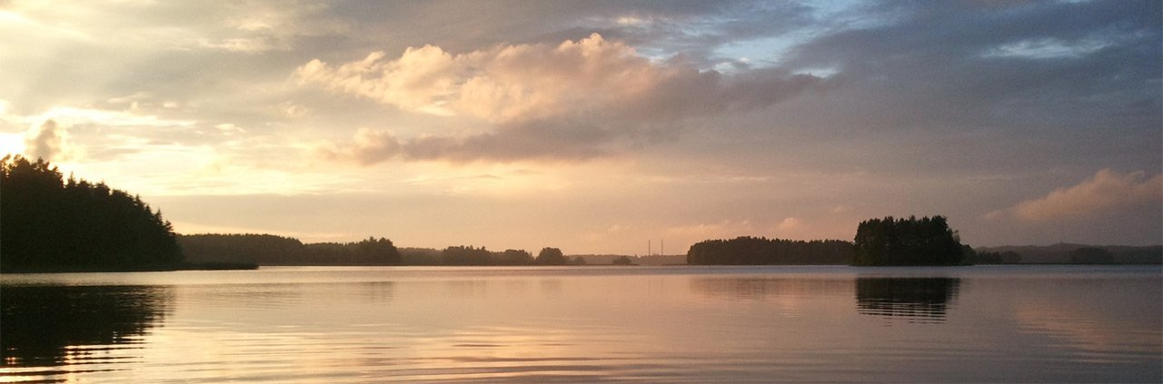 Finnish landscape at dusk