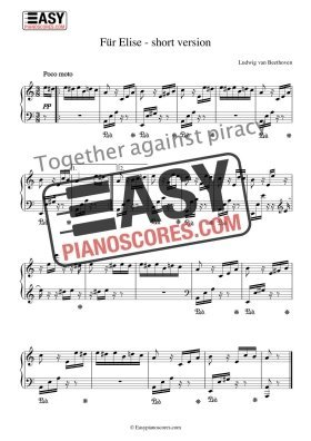 Classical Piano Sheet Music – Easypianoscores com