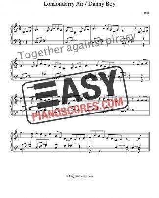 Piano score of Londonderry Air (Danny Boy)