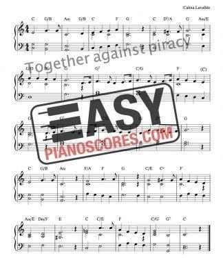 O Canada - Canadian national anthem easy piano sheet music