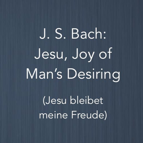 "Cover image for ""Jesu, Joy of Man's Desiring"" by Johann Sebastian Bach - piano arrangement"