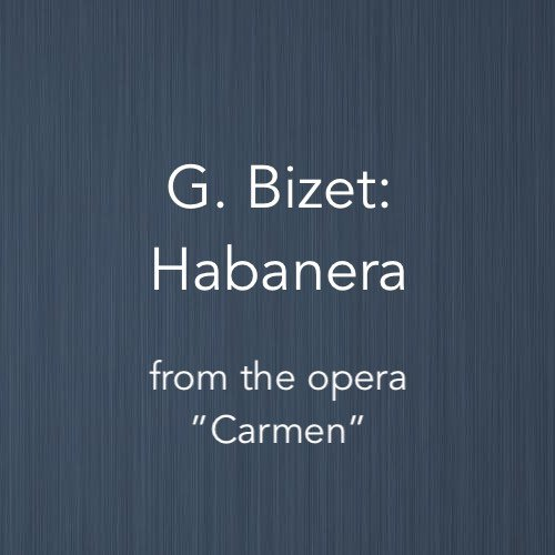 Cover image for the easy piano arrangement of Habanera from Bizet's Carmen
