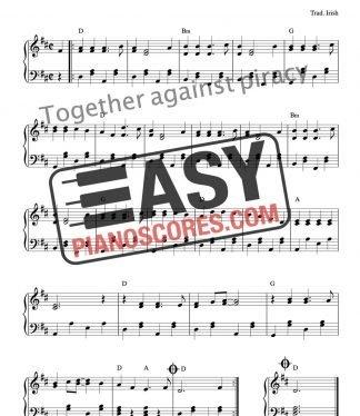 Irish folk tune Whiskey in the Jar - easy piano sheet music