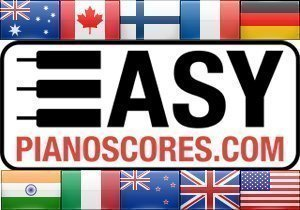 Piano scores of famous national anthems: France, USA, Germany, Italy, Australia etc.